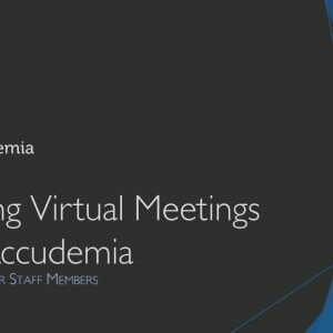Using Virtual Meetings in Accudemia Video